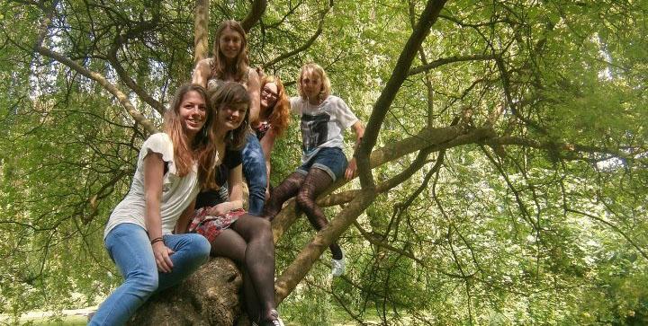 met mijn vriendinnen in het wantijpark