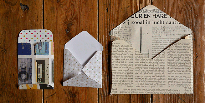 Maak je eigen enveloppen huis van belle - Hoe een volwassen slaapkamer te versieren ...