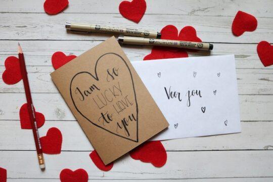 diy, handlettering, valentijn,